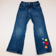 Gymboree Embroidered Polka Dot Jeans