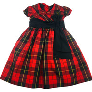Ralph Lauren Black & Red Plaid Taffeta Dress