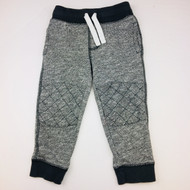 Gymboree Grey Fleck Quilted Knees Sweatpants