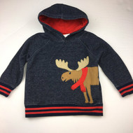 Gymboree Navy Blue Moose with Scarf Hoodie