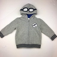 Gymboree Grey Flying Goggle Hoodie