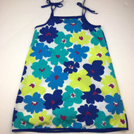 Hanna Andersson Blue & Lime Green Floral Sun Dress
