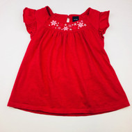 Baby Gap Crimson Flower Top