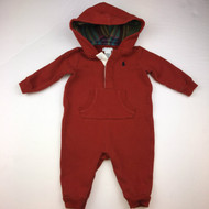 Ralph Lauren Brick Red Hooded One PIece