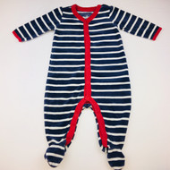 Baby Gap Blue & White Striped Velour Sleeper