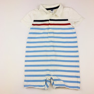 Janie & Jack Striped Cotton Shortall