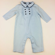 Janie & Jack Light Blue Collared Shortall