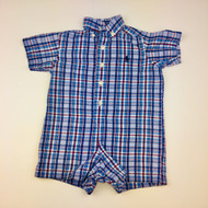 Ralph Lauren Blue & Red Plaid Shortall