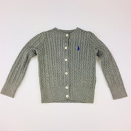 Polo by Ralph Lauren Grey Cable Knit Cardigan