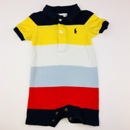 Ralph Lauren Primary Color Block Polo Style Shortall