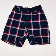 Janie & Jack Red & Navy Plaid Shorts
