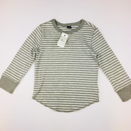 New! Baby Gap Grey & White Knit Top