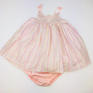 Baby Gap Pink & Glitter Sparkle Stripe Dress