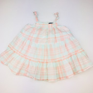 Baby Gap Pale Pink & Green Plaid Summer Dress