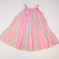 Baby Gap Pink, Green, Yellow Striped Sundress