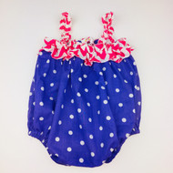 Diva Daze Purple Polka Dot Summer Romper