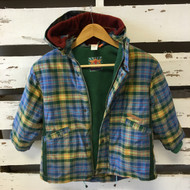 Cakewalk Blue Plaid Hood Coat
