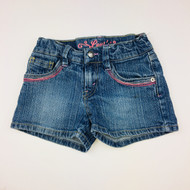 Levi's Pink Stitching Denim Shorts