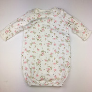 Little Me White  Pink Floral Nightgown