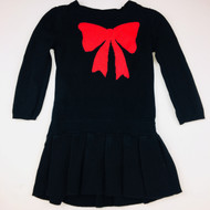 Baby Gap Black with Red Bow Sweater Dress