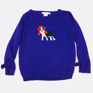 Janie & Jack Purple Doggie Sweater