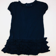 Ralph Lauren Navy Ruffle Dress