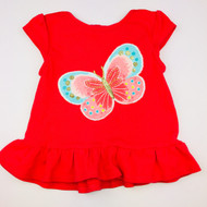 Gymboree Coral Peplum Butterfly Top