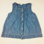 Baby Gap Light Denim Sleeveless Button Up Shirt