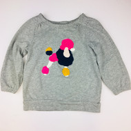 Baby Gap Grey Color Block Poodle Sweatshirt