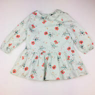 Baby Gap Light Blue with Coral Flowers Dress