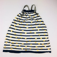 Crewcuts Navy & White Stripe Tank Dress with Gold Hearts