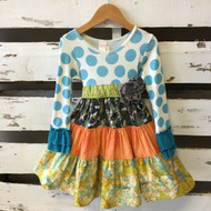 Giggle Moon Colorful Tiered Fabric Dress