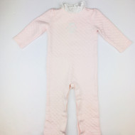 Janie & Jack Pink Quilted Embroidered Coverall