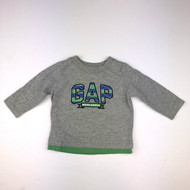 Baby Gap Grey & Green Double Layer Top
