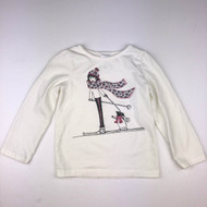 Gymboree Pink & Grey Sparkle Skier Top