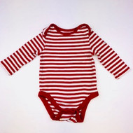 Baby Gap Red & White Striped Body Suit