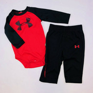 Under Armour Black & Red Jogging Suit