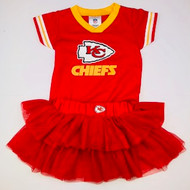 NFL Team Kansas City Chiefs Jersey Bodysuit & Red Tulle Skirt