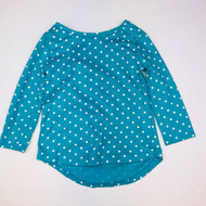 Baby Gap Teal & White Polka Dot Top