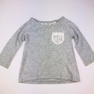 Baby Gap Grey with Ivory Lace Pocket Top