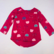 Baby Gap Magenta Kitty Top