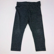 Gymboree Charcoal & Silver Sparkle Stripe Leggings