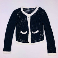 Baby Gap Black & White Loose Knit Cardigan