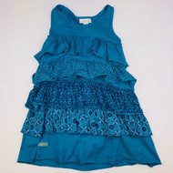 Naartjie KIds Turquoise Multi Print Tiered Ruffle Dress