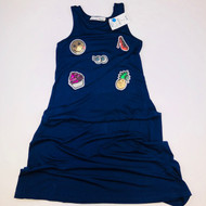 New! Att-E-Tudes Navy Blue Sequin Emoji Sleeveless Dress