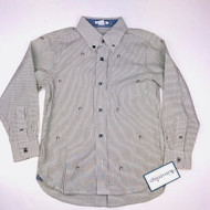 New! Kitestrings Grey & White Striped Button Up Shirt