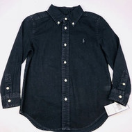 New! Ralph Lauren Black Button Up Shirt