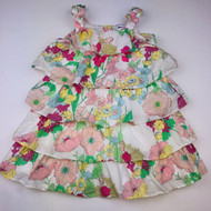 Baby Gap Pink & Green Floral Tiered Summer Dress