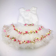Popatu Tulle & Rose Ribbon Dress