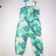 Janie & Jack Spearmint Palm Romper